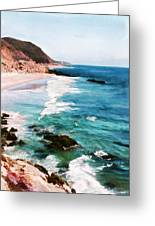 Looking South On The Northern California Coast Greeting Card