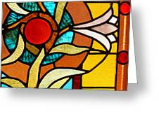 Looking Through Stain Glass Greeting Card by Thomas Fouch