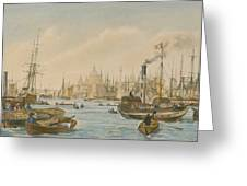 Looking Towards London Bridge Greeting Card by William Parrot