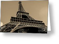 Looking Up At Eiffel Greeting Card