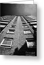 looking up at stangate house 1950s tower block flats housing lambeth London England UK Greeting Card
