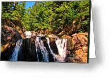 Looking Up At Victoria Falls Greeting Card