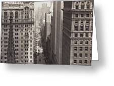 Looking Up Broadway In Nyc Greeting Card
