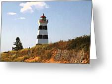 Looking Up From The Dunes At West Point Light Greeting Card