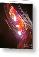 Looking Up In Antelope Canyon Greeting Card
