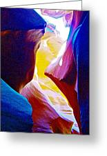 Looking Up In Lower Antelope Canyon In Lake Powell Navajo Tribal Park-arizona  Greeting Card