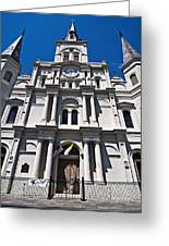 Looking Up St Louis Cathedral Greeting Card