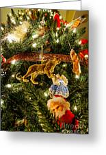 Looking Up The Christmas Tree Greeting Card