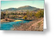 Looking Up The Payette River Greeting Card