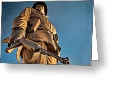 Looking Up To A Hero In Pueblo Colorado Greeting Card