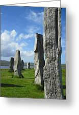 Looking West At Callanish Greeting Card