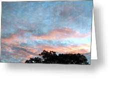 Looks Like And Oil Painted Sky Greeting Card