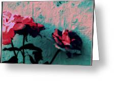 Looks Like Painted Roses Abstract Greeting Card