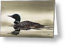Loon In Still Waters Greeting Card