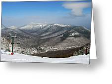 Loon Mountain Ski Resort White Mountains Lincoln Nh Greeting Card