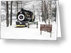 Loon Mountain Train Greeting Card