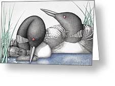 Loons Greeting Card by Wayne Hardee