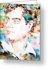 Lord Byron - Watercolor Portrait Greeting Card