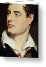 Lord Byron Greeting Card by William Essex