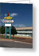 Lorraine Motel Sign Greeting Card by Joshua House