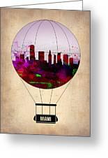 Miami Air Balloon 1 Greeting Card