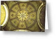 Los Angeles City Hall Rotunda Ceiling Greeting Card
