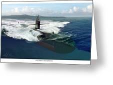 Los Angeles Class Submarine Greeting Card