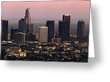 Los Angeles Dusk Greeting Card