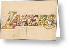 Los Angeles Lakers Logo Art Greeting Card