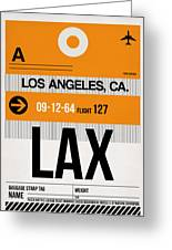 Los Angeles Luggage Poster 2 Greeting Card