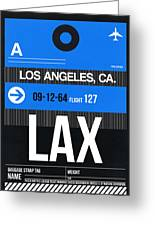 Los Angeles Luggage Poster 3 Greeting Card