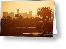 Los Angeles Morning Greeting Card