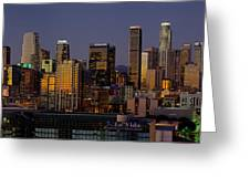 Los Angeles Night Greeting Card