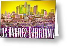 Los Angeles Postcard Greeting Card