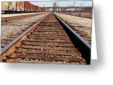 Los Angeles Railroad Tracks Greeting Card