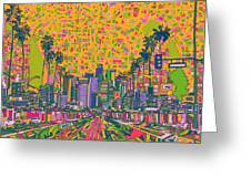 Los Angeles Skyline Abstract Greeting Card