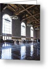 Los Angeles Union Station Original Ticket Lobby Vertical Greeting Card