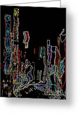 Losing Equilibrium - Abstract Art Greeting Card