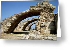 Lost City Of Salamis Cyprus  Greeting Card