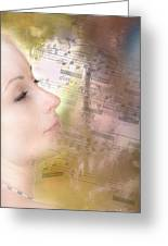 Lost In Music. It Is In The Rain Greeting Card