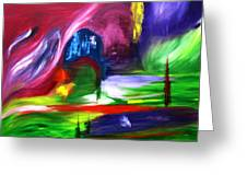Lost In Northern Lights Greeting Card