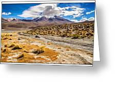 Lost In The Bolivian Desert Framed Greeting Card