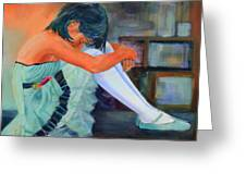 Lost In Thought Greeting Card by Sue  Darius