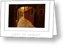 Lost In Venice Poster Greeting Card