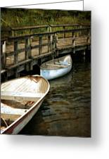 Lost Lake Boardwalk Greeting Card by Michelle Calkins