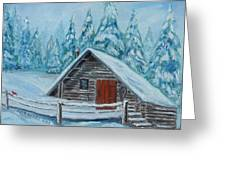 Lost Mountain Cabin Greeting Card