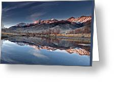 Lost River Mountains Winter Reflection Greeting Card