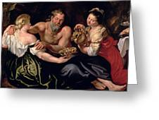 Lot And His Daughters Painting By Rubens