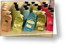 Lotions And Potions Greeting Card