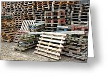 Lots Of Pallets Greeting Card by Olivier Le Queinec